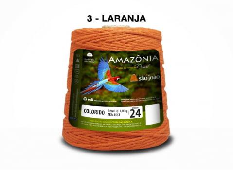 BARBANTE AMAZONIA 4/24 1000G LARANJA