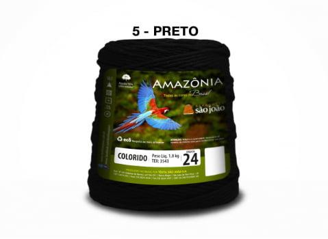 BARBANTE AMAZONIA 4/24 1000G PRETO