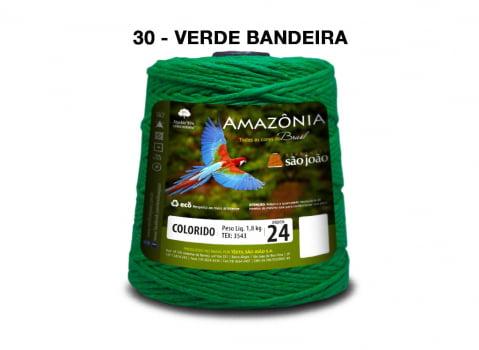 BARBANTE AMAZONIA 4/24 1000G VERDE BANDEIRA