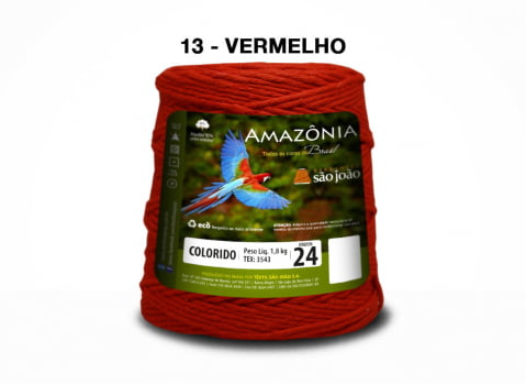 BARBANTE AMAZONIA 4/24 1000G VERMELHO
