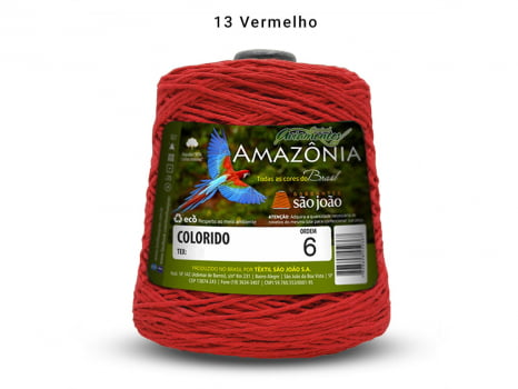 BARBANTE AMAZONIA 6 614M 13 VERMELHO