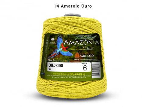 BARBANTE AMAZONIA 6 614M 14 AMARELO OURO