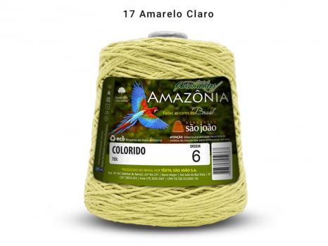 BARBANTE AMAZONIA 6 614M 17 AMARELO CLARO