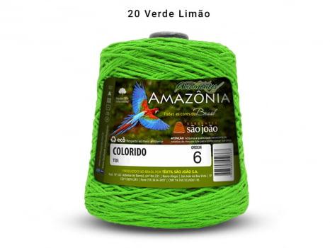 BARBANTE AMAZONIA 6 614M 20 VERDE LIMAO