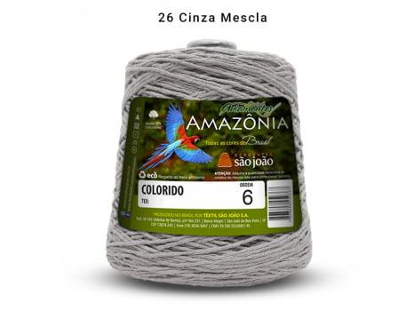 BARBANTE AMAZONIA 6 614M 26 CINZA MALHA