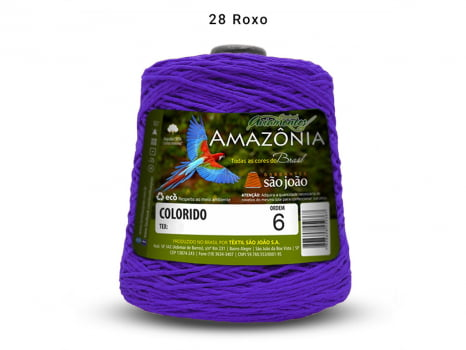 BARBANTE AMAZONIA 6 614M 28 ROXO