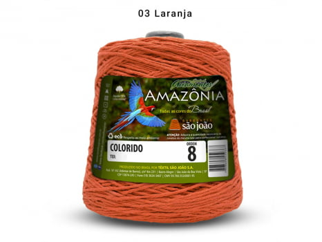 BARBANTE AMAZONIA 8 461M 03 LARANJA