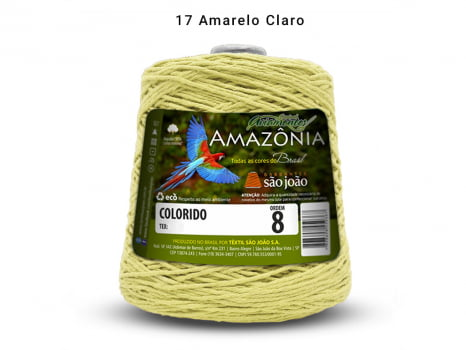BARBANTE AMAZONIA 8 461M 17 AMARELO BEBE