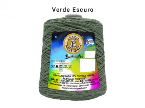 BARBANTE PIRATININGA 4/6 600G VERDE ESCURO