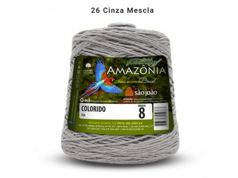 BARBANTE AMAZONIA 8 461M 26 CINZA MALHA