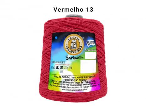 BARBANTE PIRATININGA 4/8 1.8KG VERMELHO