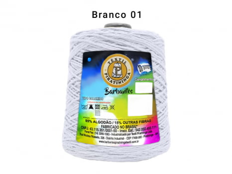 BARBANTE PIRATININGA 4/8 600G BRANCO