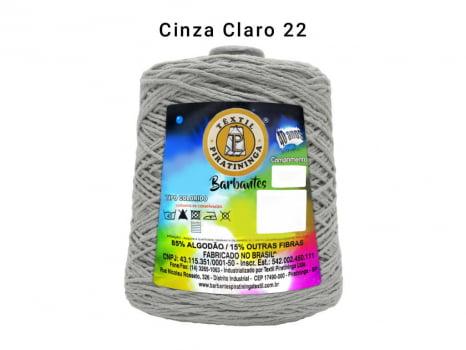 BARBANTE PIRATININGA 4/8 600G CINZA CLARO