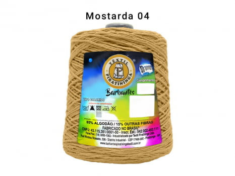 BARBANTE PIRATININGA 4/8 600G MOSTARDA