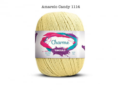 LINHA CHARME 150G 1114 AMARELO CANDY