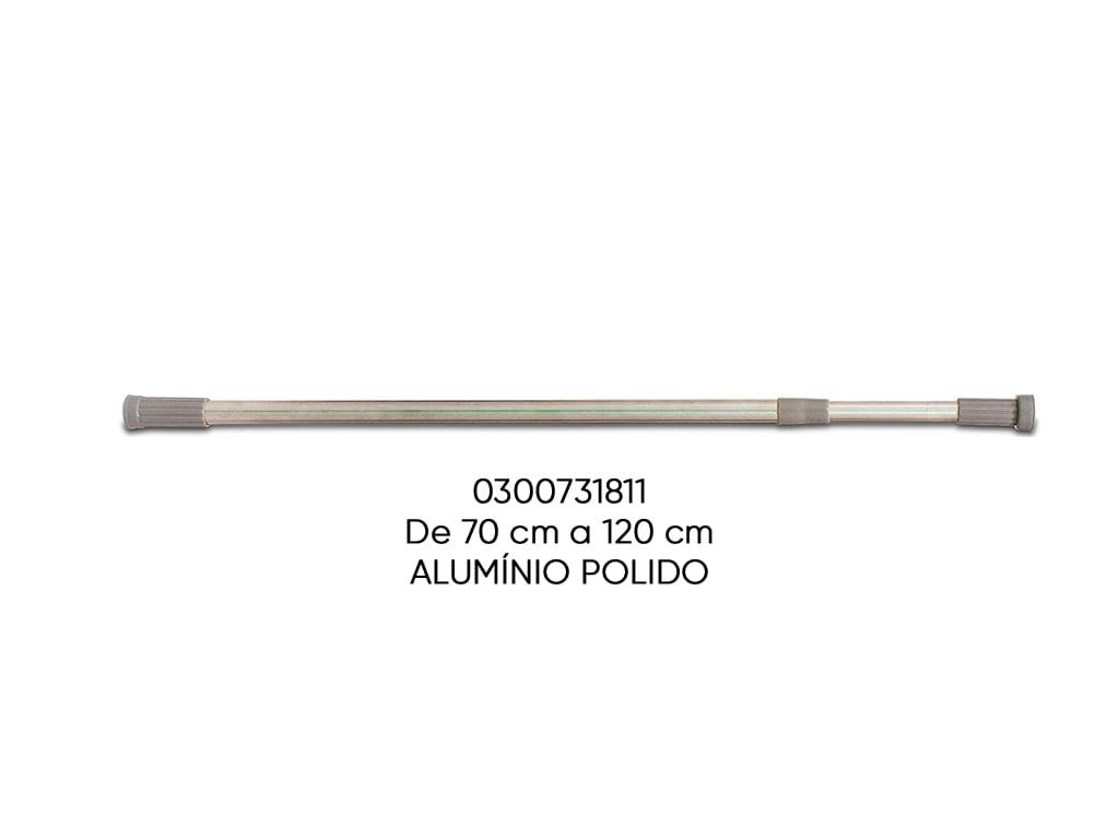 TUBO EXTENSIVEL MULTIFUNCIONAL ALUMINIO POLIDO 070-120CM