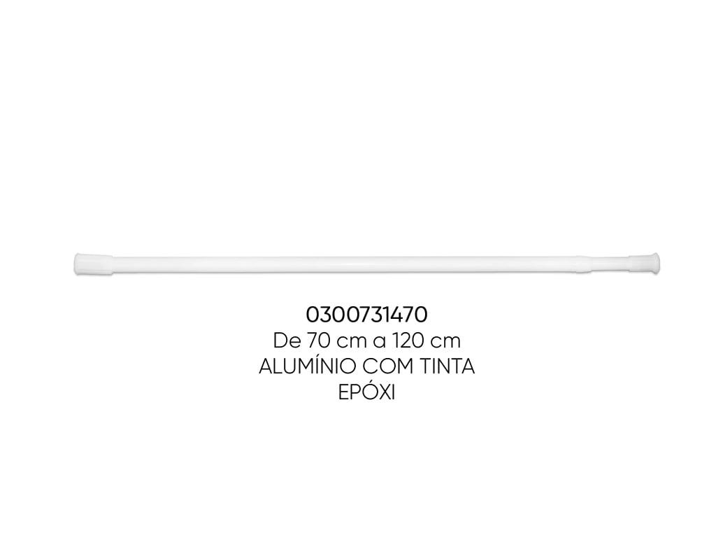 TUBO EXTENSIVEL MULTIFUNCIONAL BRANCO 070-120CM