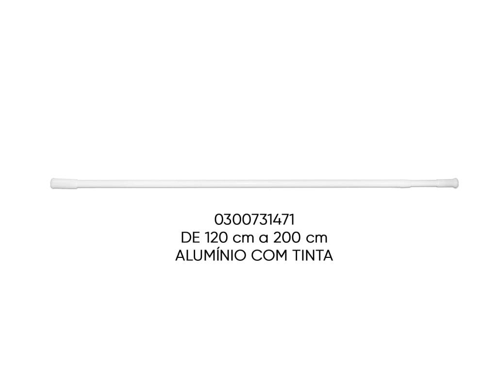 TUBO EXTENSIVEL MULTIFUNCIONAL BRANCO 120-200CM